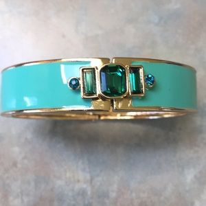 Vintage costume jewelry green bangle